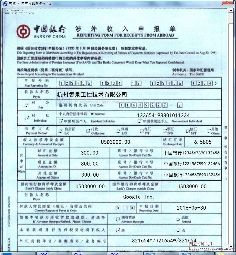 收入证明_境内收入申报单