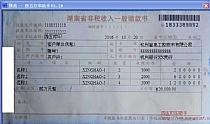 湖南省非税收入一般缴款书